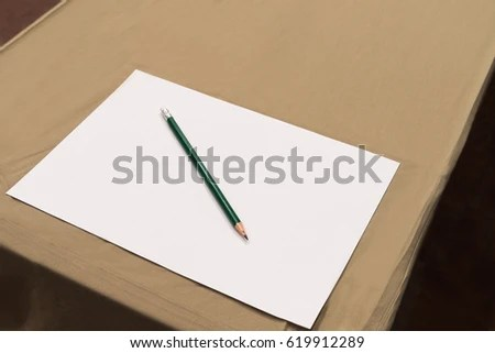 Note Pad Pencil On Table Meeting Stock Photo (Edit Now) 619912289