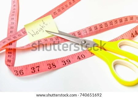 Notes Write Word Weight Tip Scissors Stock Photo (Edit Now
