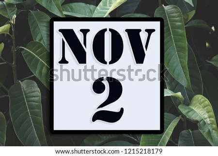 Numbers On November 2nd Second Concept Calendar Stock Photo (Edit