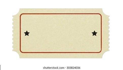 Blank Ticket Stub Images, Stock Photos  Vectors Shutterstock