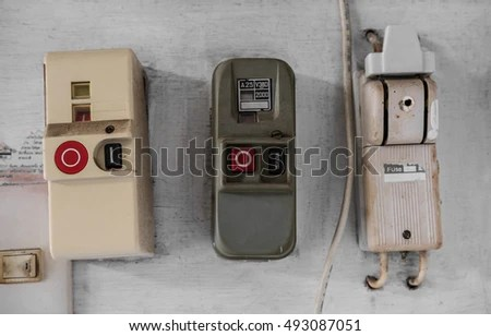 Old Electric Fuse Panel Domestic House Stock Photo (Edit Now