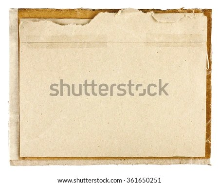 Old Sepia Toned Historic Blank Paper Stock Photo (Edit Now