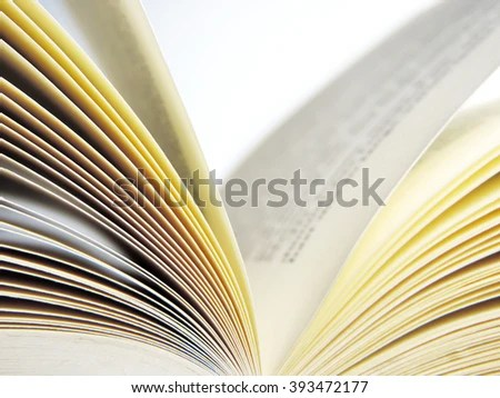 Open Book Close Shot Book Pages Stock Photo (Edit Now) 393472177