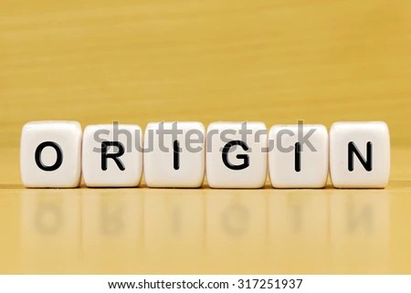 ORIGIN Word On Blocks Stock Photo (Edit Now) 317251937 - Shutterstock