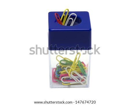 Paper Clip Box On Top Magnet Stock Photo (Edit Now) 147674720