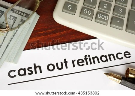 Paper Words Cash Out Refinance On Stock Photo (Edit Now) 435153802
