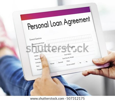 Personal Loan Agreement Form Concept Stock Photo (Edit Now