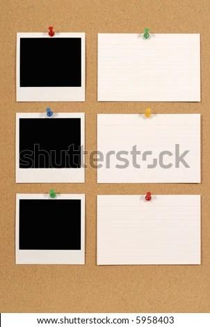 Photo Print Frames Row Index Cards Stock Photo (Edit Now) 5958403