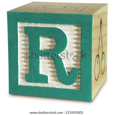 Photograph Wooden Block Letter R Stock Photo (Edit Now) 121043005