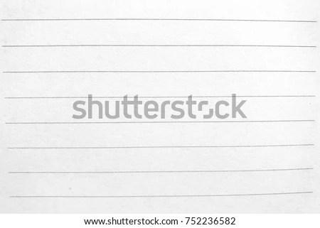 Plain Paper Horizontal Lines Stock Photo (Edit Now) 752236582