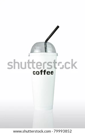 Plastic Coffee Cup Templates Over White Stock Photo (Edit Now