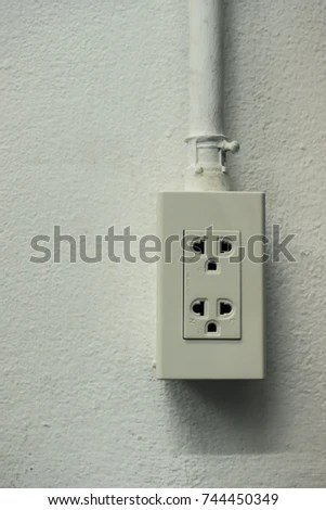 Power Outlet Wiring Insert Into Tube Stock Photo (Edit Now