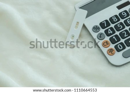 Pregnancy Test Positive Pregnant Calculator Financial Stock Photo