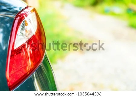 Red White Tail Lamp Shaped Like Stock Photo (Edit Now) 1035044596