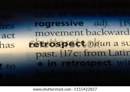 Retrospect Word Dictionary Retrospect Concept Stock Photo (Edit Now