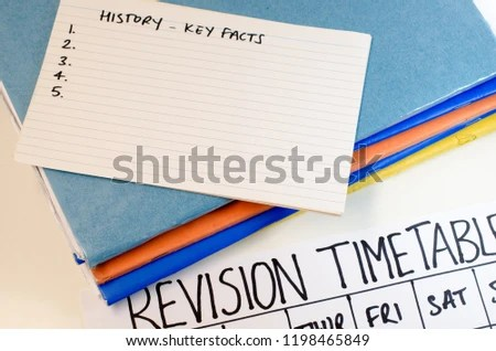 Revision Study Timetable Concept Stock Photo (Edit Now) 1198465849