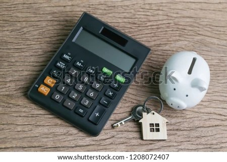 Saving Money House Home Mortgage Loan Stock Photo (Edit Now