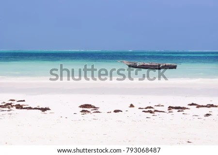 Scene Serenity Indian Ocean Tanzania Beautiful Stock Photo (Edit Now
