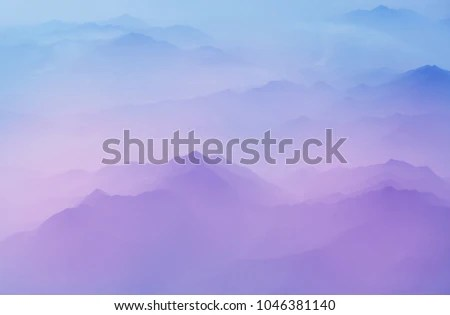 Serenity Scene Mountain Silhouette Stock Photo (Edit Now) 1046381140