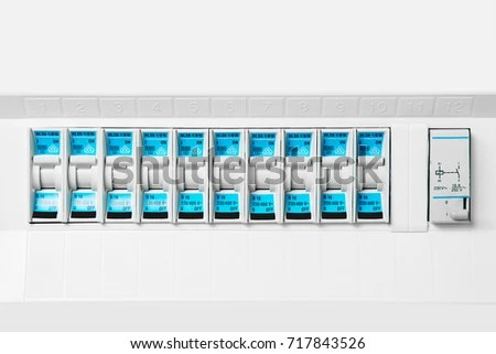 Set Fuse Switches Modern Bright Fuse Stock Photo (Edit Now