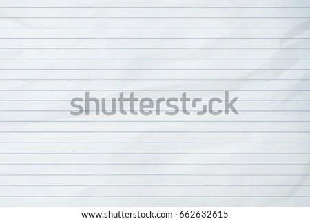 Sheet Paper Horizontal Line Stock Photo (Edit Now) 662632615
