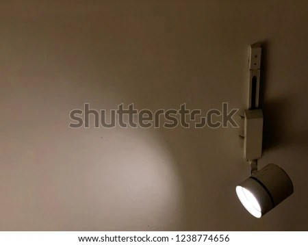 Spotlight On Surface Mounted Wiring Track Stock Photo (Edit Now