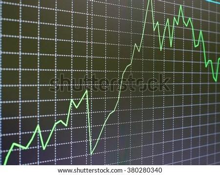 Stock Market Chart Graph On Black Stock Photo (Edit Now) 380280340