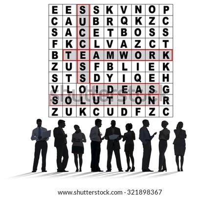 Success Crossword Puzzle Words Achievement Game Stock Photo (Edit - words for achievement