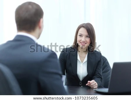 Successful Job Interview Boss Employee Handshaking Stock Photo (Edit