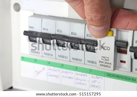 Testing RCD Residual Current Device On Stock Photo (Edit Now
