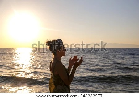This Very Serenity Scene Beach Woman Stock Photo (Edit Now