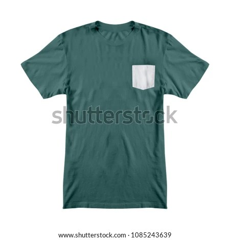 Tshirt Template Pocket Stock Photo (Edit Now) 1085243639 - Shutterstock