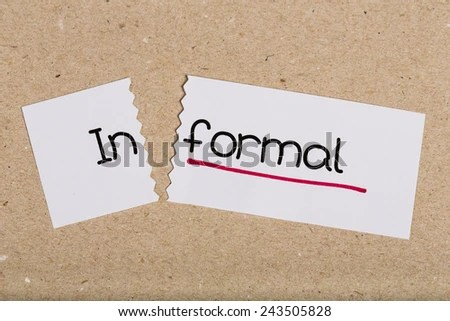 Two Pieces White Paper Word Informal Stock Photo (Edit Now