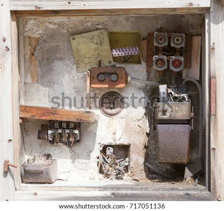 Very Old Fusebox Abandoned House Stock Photo (Edit Now) 717051136