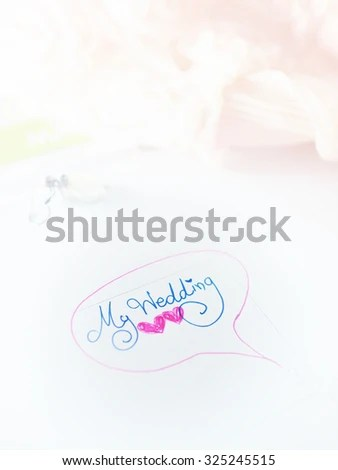 Wedding Agenda On Time Planner Stock Photo (Edit Now) 325245515