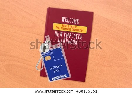 Welcome New Employee Handbook Rules Regulation Stock Photo (Edit