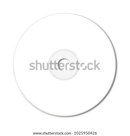 White CD Label Mockup Template Isolated Stock Photo (Edit Now