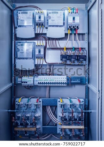 Wires Switches Electric Box Electrical Panel Stock Photo (Edit Now