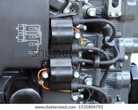 Wiring Diagram Ignition Coils High Voltage Stock Photo (Edit Now