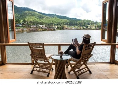 Chairs By The River Images Stock Photos Vectors