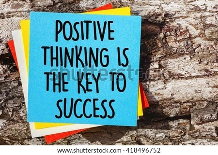 Word Quotes POSITIVE THINKING KEY SUCCESS Stock Photo (Edit Now