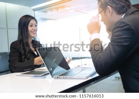 Young Women Attend Job Interview Handshake Stock Photo (Edit Now