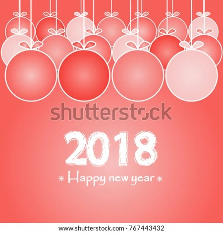2018 Happy New Year Banner Christmas Stock Vector (Royalty Free