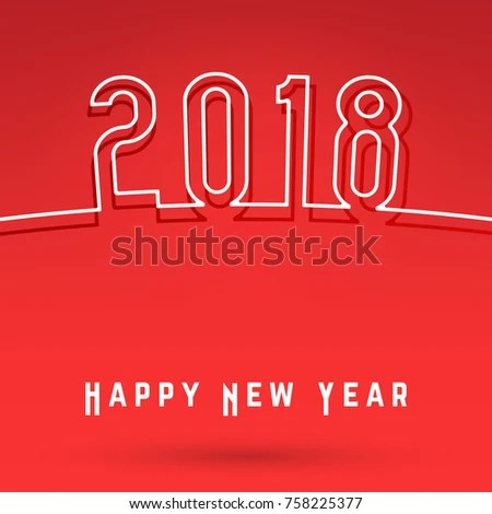 2018 Happy New Year Cover Template Stock Vector (Royalty Free