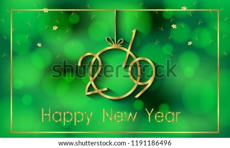 2019 Happy New Year Background Your Stock Vector (Royalty Free