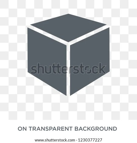 3 D Cube Icon 3 D Cube Design Stock Vector (Royalty Free) 1230377227