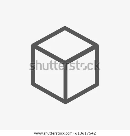 3 D Cube Logo Design Icon Vector Stock Vector (Royalty Free