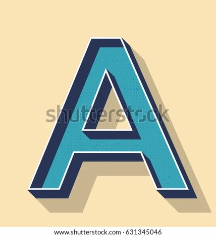 3 D Letter Retro Vector Text Style Stock Vector (Royalty Free