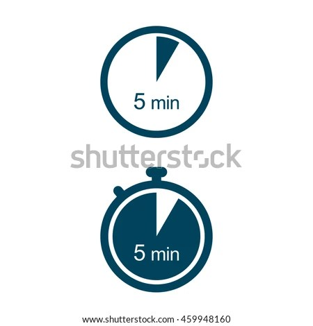 5 Min Timer Icons Stock Vector (Royalty Free) 459948160 - Shutterstock