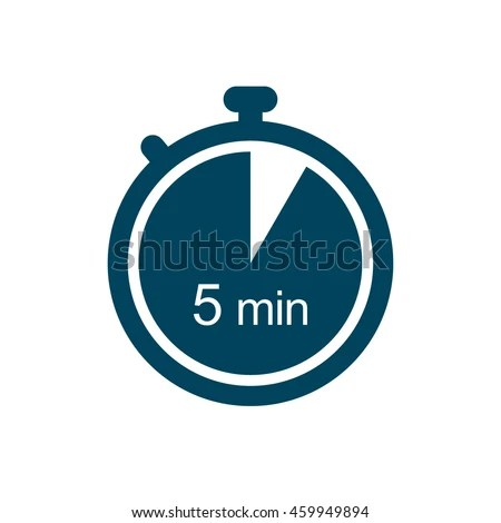 5 Minutes Timer Icon Stock Vector (Royalty Free) 459949894